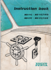 Instruction Book Volvo Penta MD1B, MD2B, MD3B